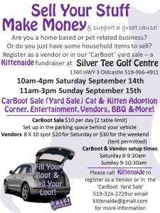 Kittenaide Fundraiser at Silver Tee