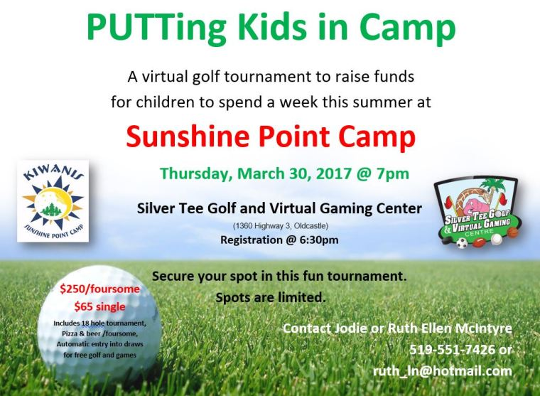Charity Indoor Golf Tournament Fundraiser Silver Tee WIndsor