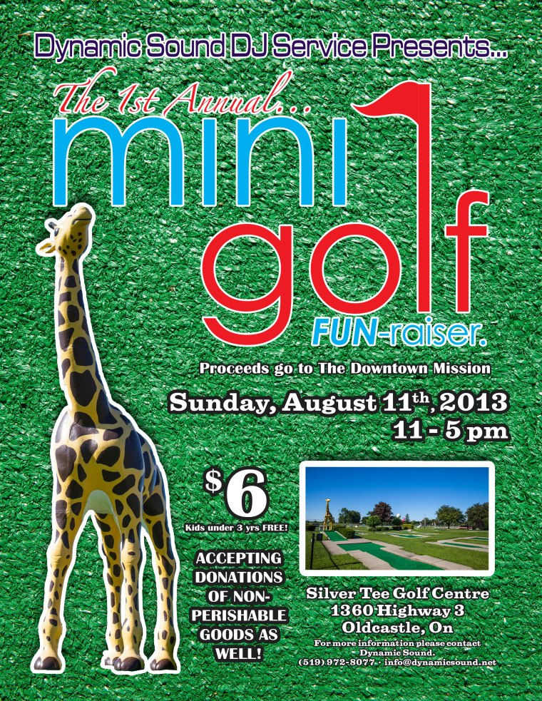 Charity Event by Dynamic Sound DJ The Windsor Downtown Missio Silver Tee Golf Centre