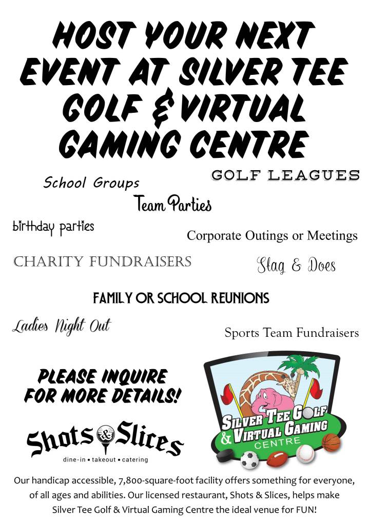 Hold your event Silver Tee Golf and Virtual Gaming Centre