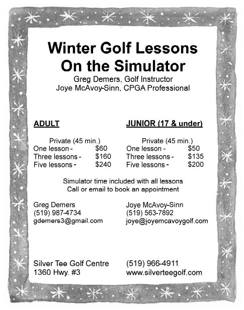 Winter Golf Lessons Silver Tee Golf Windsor