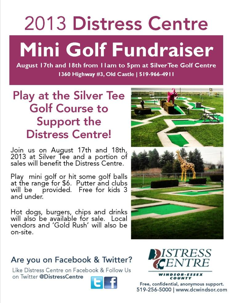 The Distress Centre of Windsor Mini Golf Fundraiser Windsor Ontario