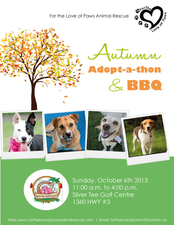 For the Love of Paws Adopt-A-Thon at Silver Tee Golf Centre