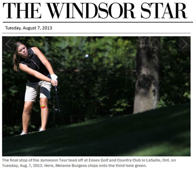 Junior Golf Lessons Windsor Essex Ontario