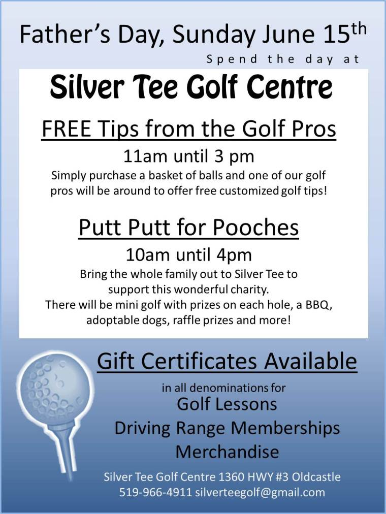 Father's Day Silver Tee Golf Centre