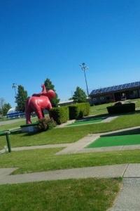 Ella the pink elephant Silver Tee Golf