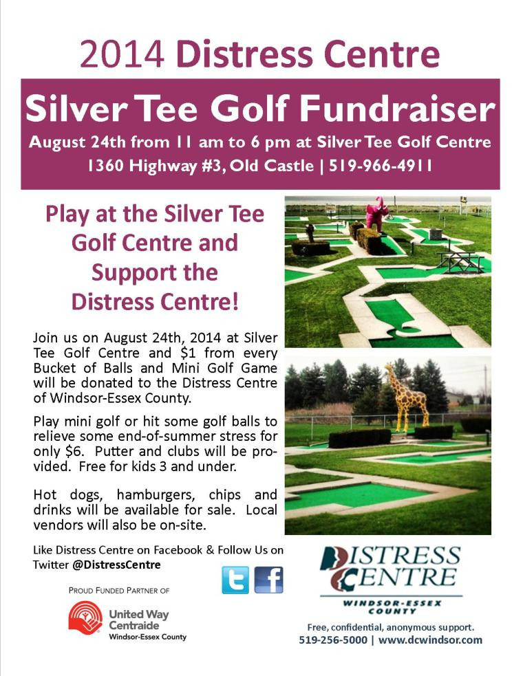 Silver Tee - August 24th, 2014 Distress Centre Fundraiser