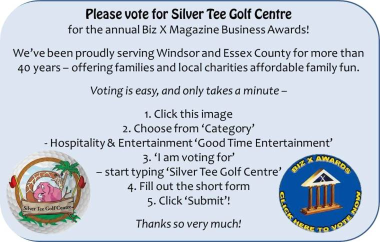 Vote for Silver Tee Windsor Biz X Business Awards