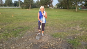 Theresa Lecours Silver Tee Golf and Vitual Gaming Centre Groundbreaking