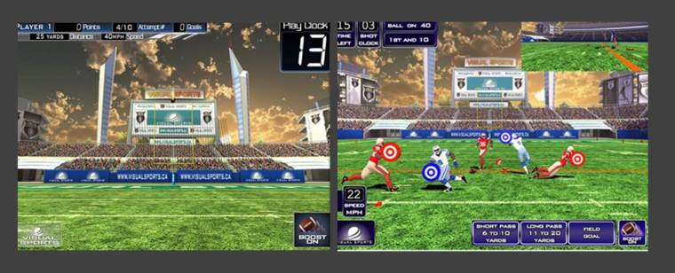 Virtual football Silver Tee Golf and Virtual Gaming Centre