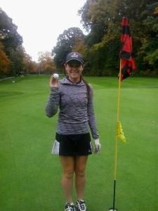 Melanie Burgess Silver Tee Golf Hole in One
