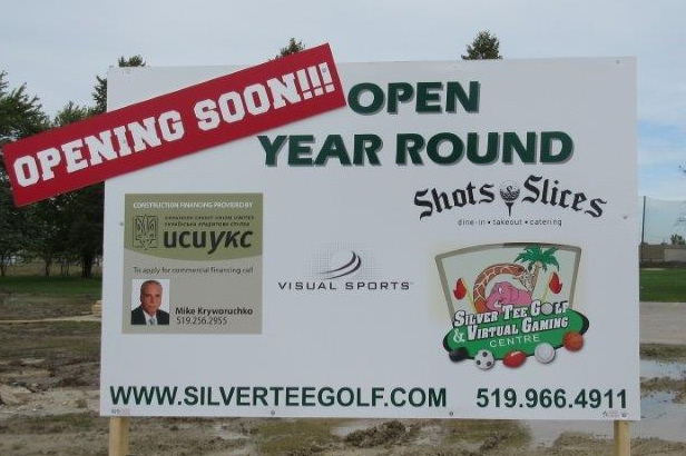 New Sign at Silver Tee Golf and Virtual Gaming Centre