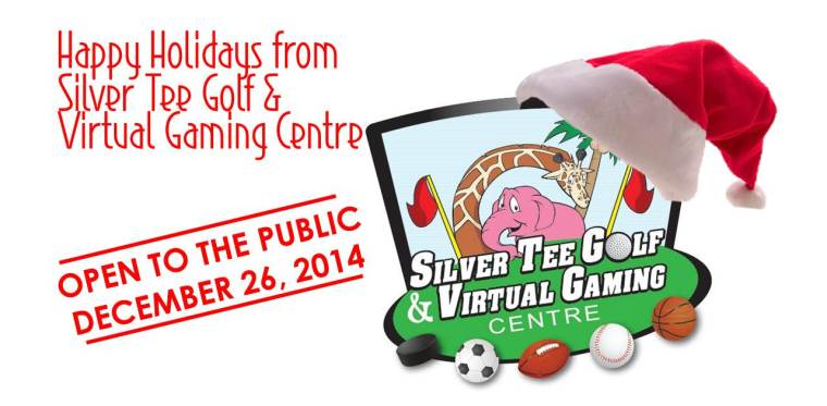 Happy Holidays from Silver Tee Golf & Virtual Gaming Centre