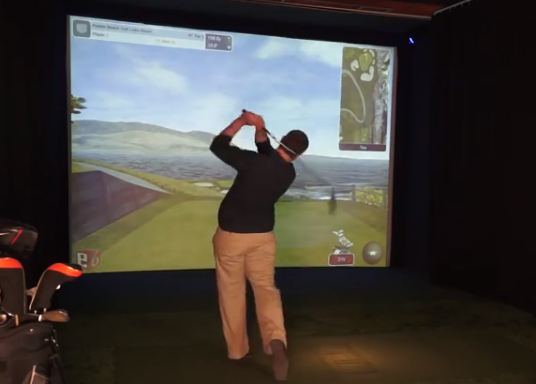 Indoor Virtual Golf at Silver Tee