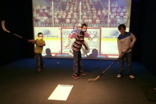 Virtual Hockey at Silver Tee Virtual Gaming Centre