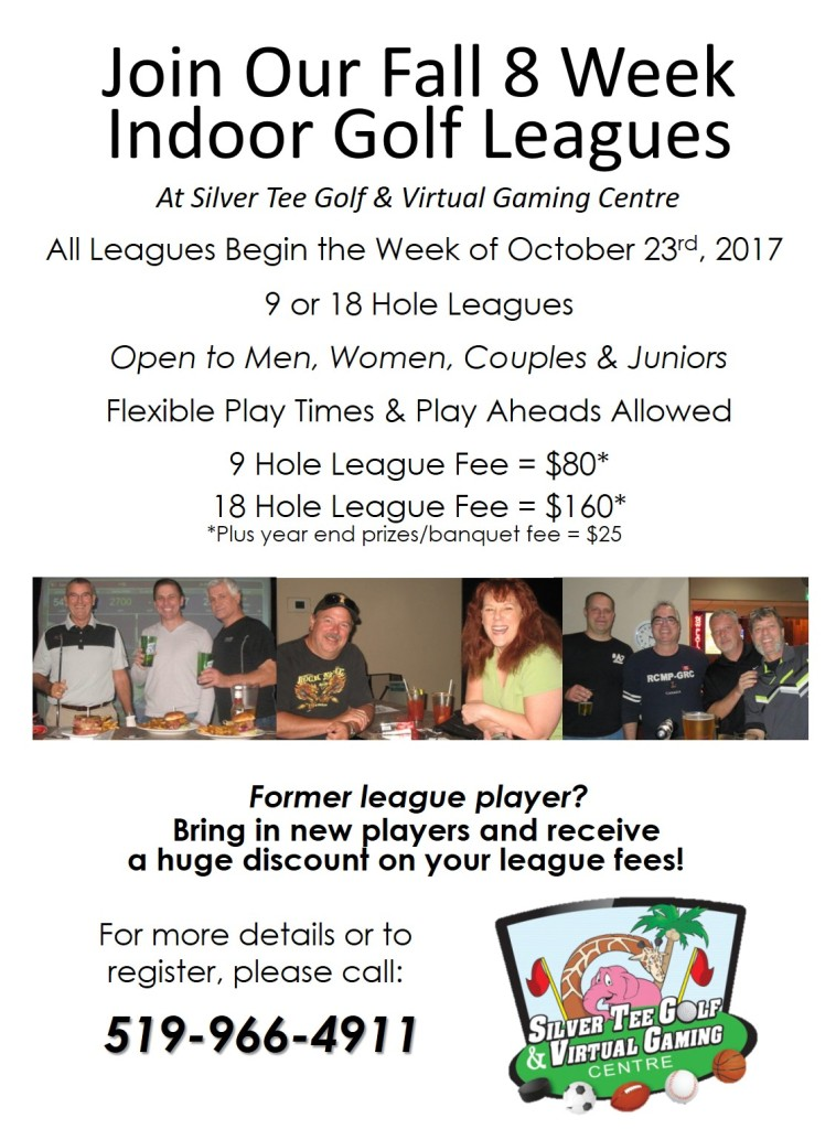 Fall indoor golf leagues Silver Tee 2017