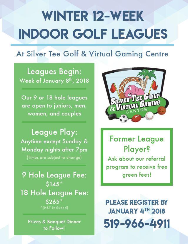 Winter 2018 Indoor Golf League Silver Tee Windsor