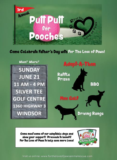 3rd Annual Putt for Pooches Fundraiser at Silver Tee