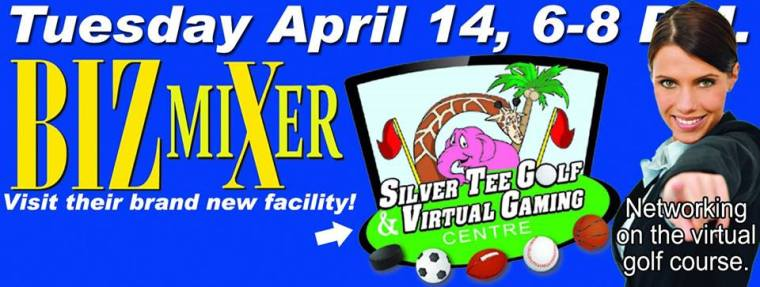 April BizX Mixer at Silver Tee Indoor Golf