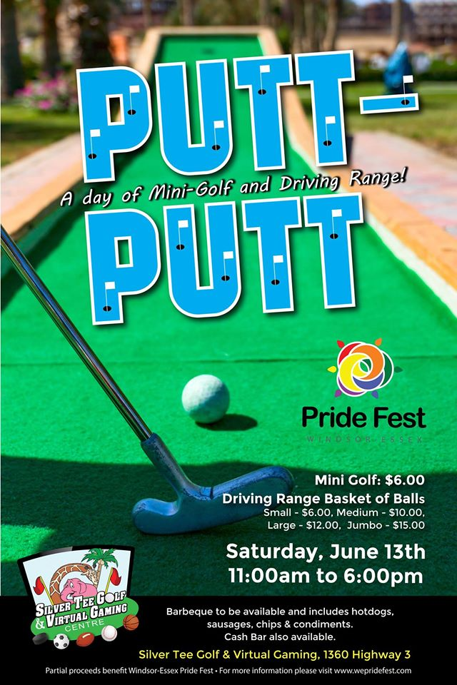 Mini Golf Pride Fest Event Silver Tee Golf