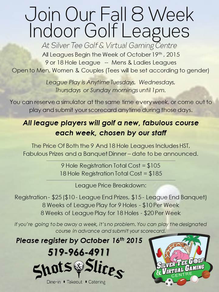 Silver Tee Golf Fall League Flyer