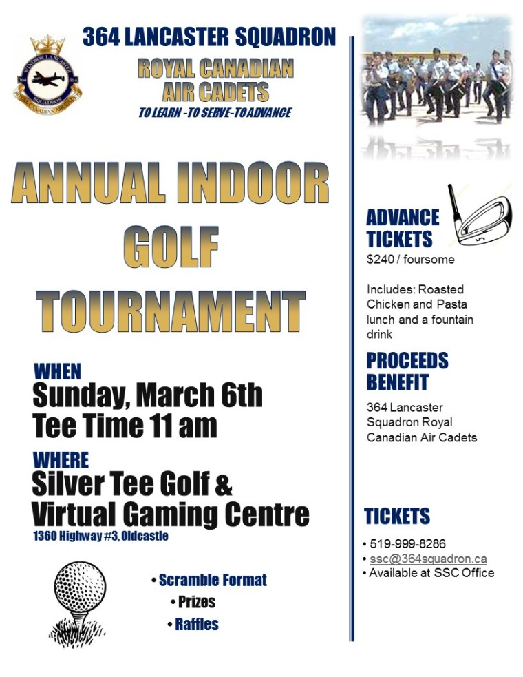 Indoor Golf Tournament Windsor Essex
