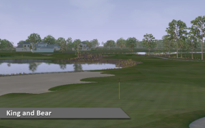 King and Bear Indoor Golf Windsor Essex Silver Tee