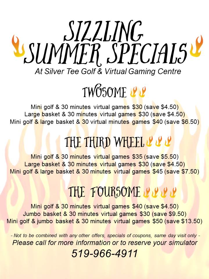 Sizzling Summer Specials 2016