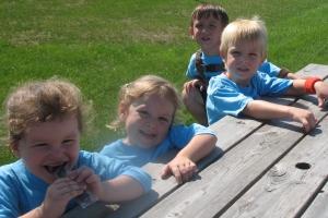 Happy children outside
