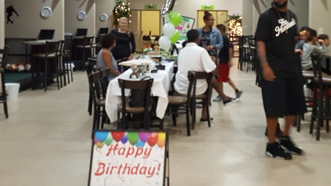 Happy birthday Sign At Silver Tee