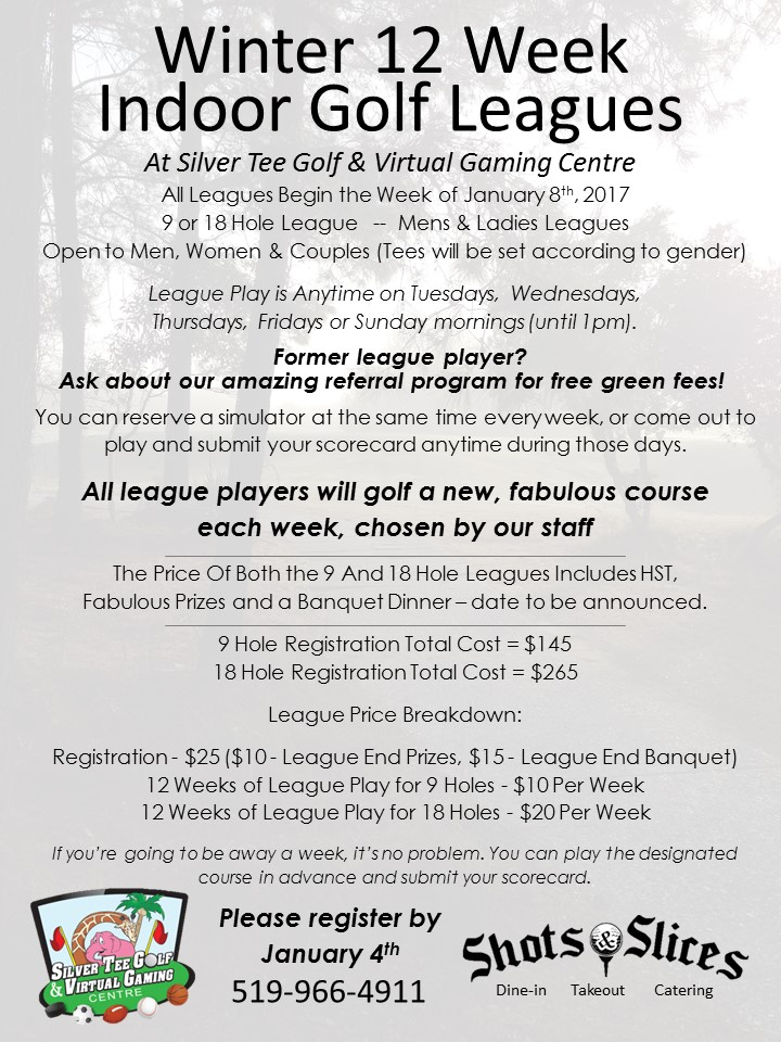 Winter Indoor Golf League Silver Tee Windsor