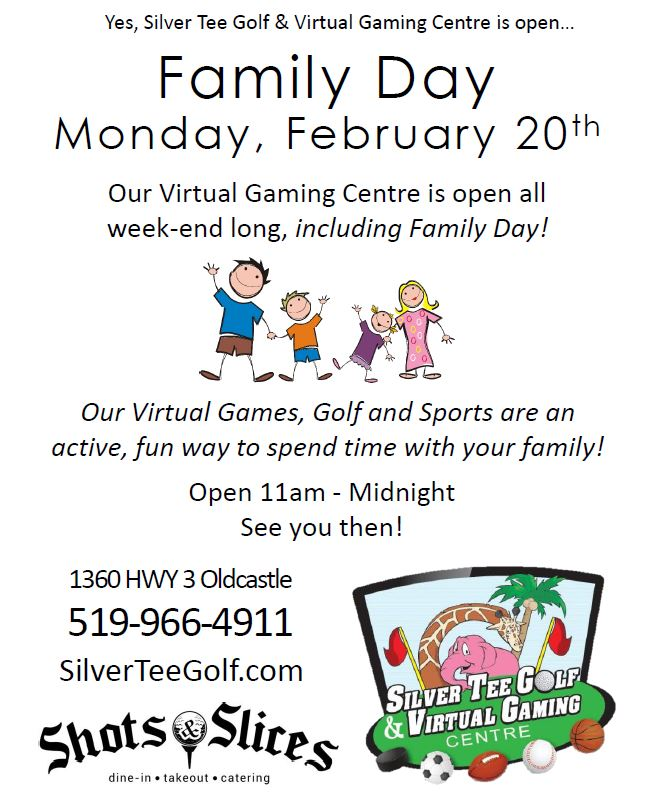 Fun Things to Do Windsor Family Day Silver Tee Golf & Virtual Gaming Centre