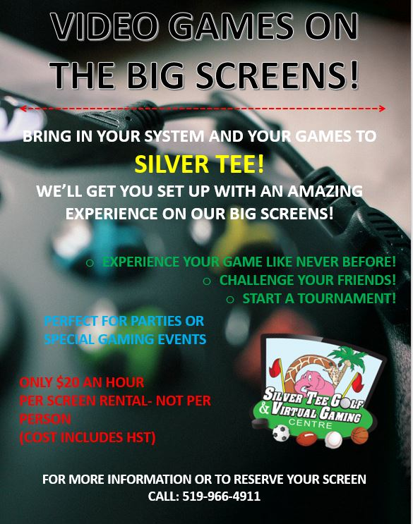 Video Games Flyer Silver Tee Mar 2020