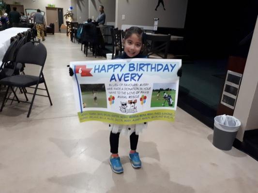 Avery Birthday party donation Silver Tee