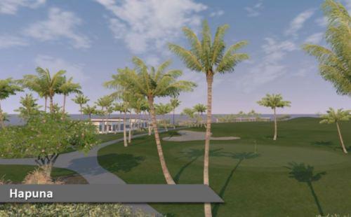 Hapuna Golf Coures Virtual Indoor Golf Silver Tee
