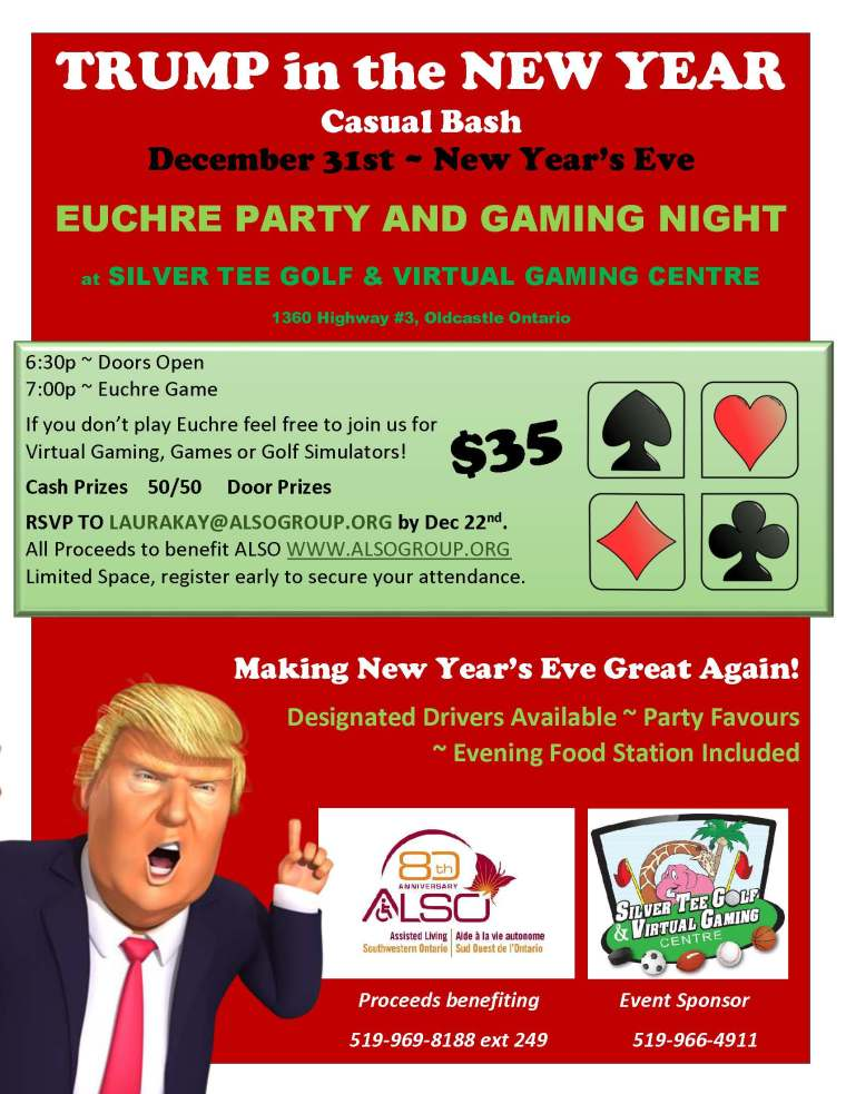 Fun things to do New Year's Eve Windsor Essex On Silver Tee