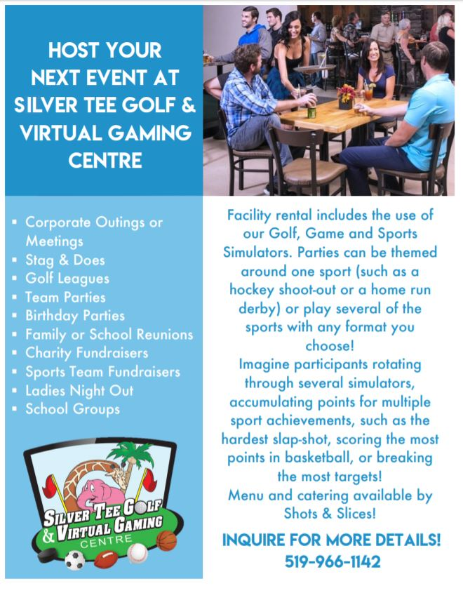 Place to hold a meeting event Windsor Ontario Silver Tee Flyer 2