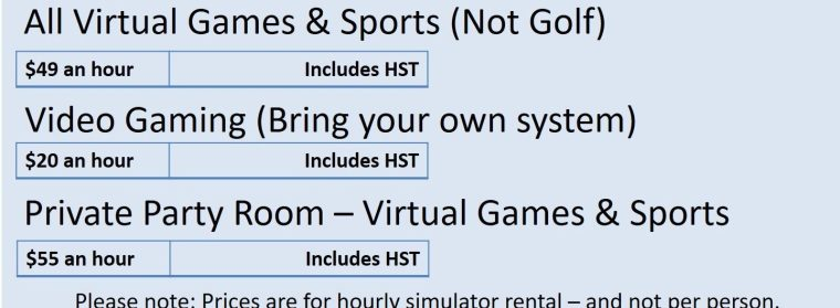 Silver Tee Virtual Games and Sports Rates Only 2018