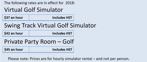 Silver Tee Virtual Golf Rates 2018