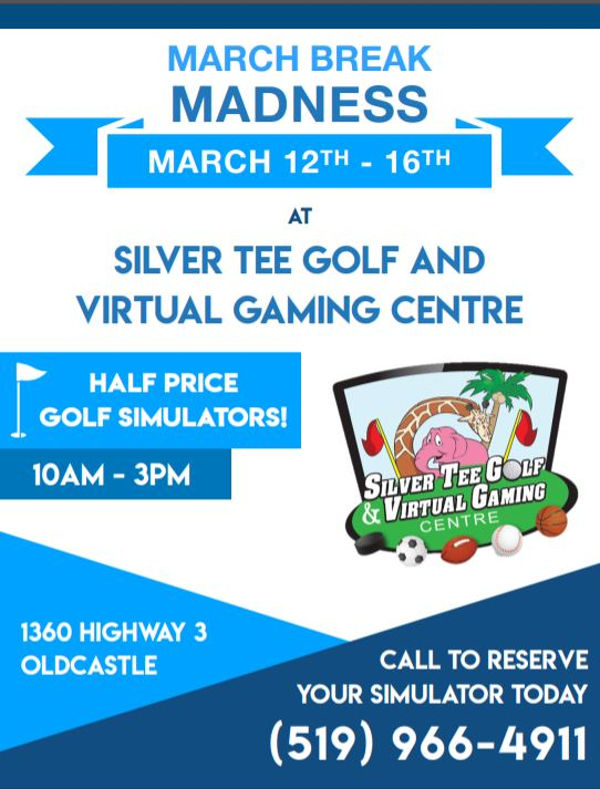March Break Fun Windsor Essex Silver Tee 2018