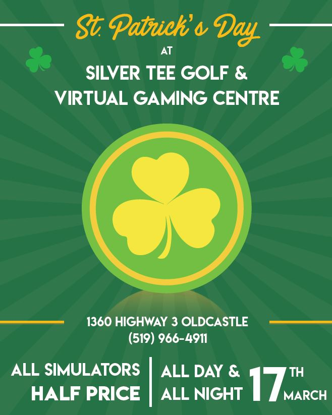 St. Patrick's Day Family Fun Windsor Essex Silver Tee 2018