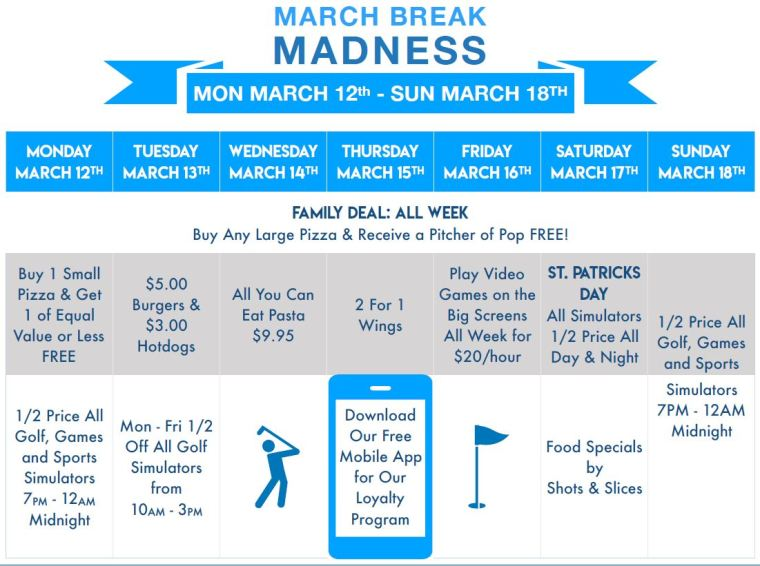 March Break Kids Golf Windsor Essex Silver Tee Fun
