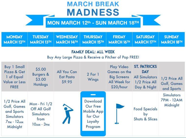 March Break Kids Golf Windsor Essex Silver Tee Fun