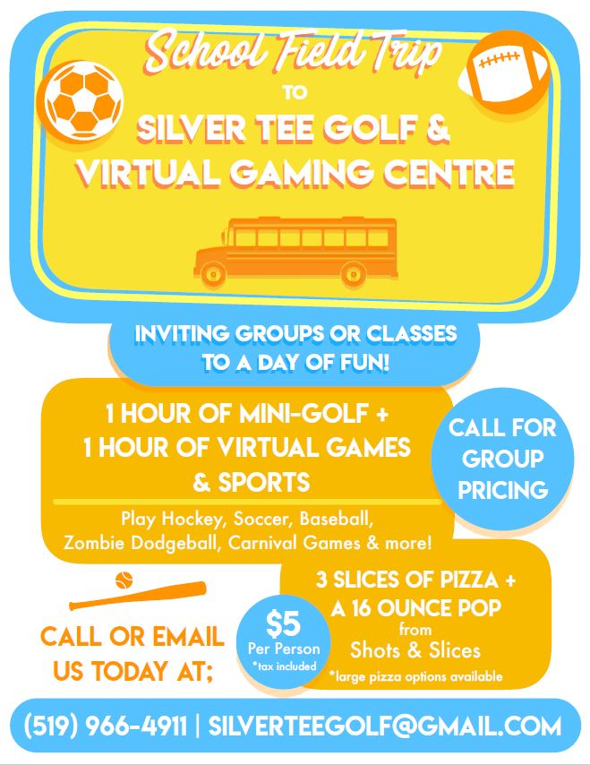 School Class Trips Windsor Essex Fun Silver Tee Golf Gaming Centre