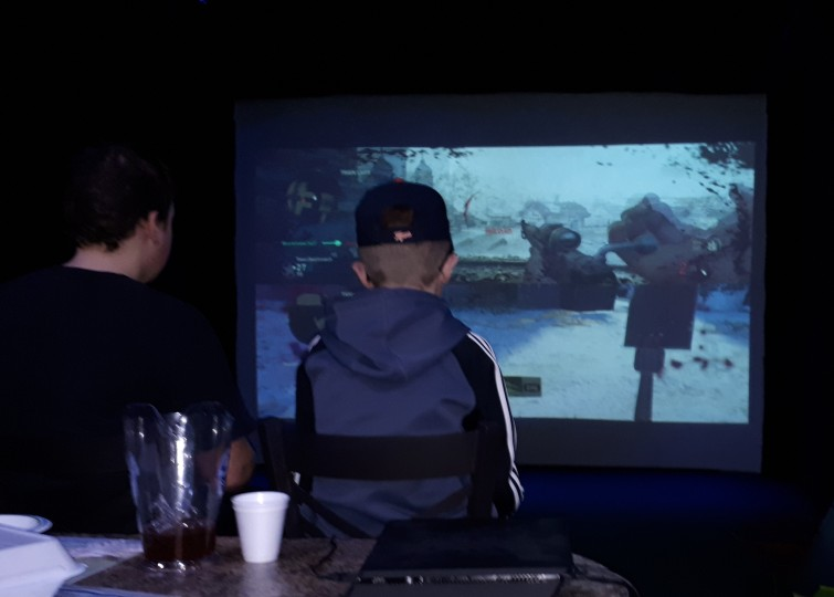 Video Games Big Screen Silver Tee March Break 2018 (2)