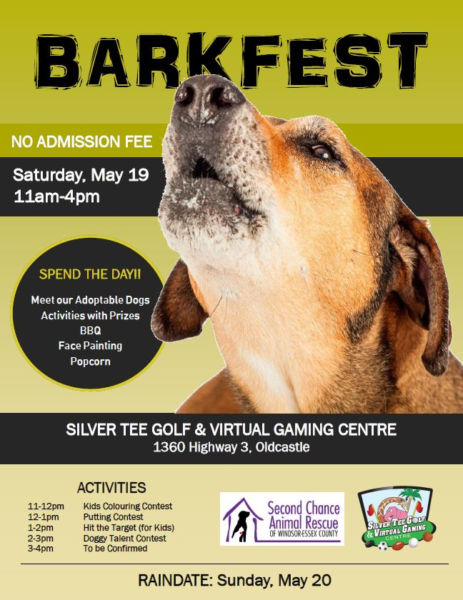 Barkfest Charity Event Silver Tee Windsor Essex 2018