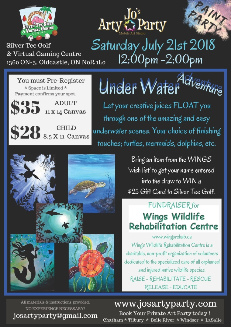 2018 July 21 WINGS underwater poster