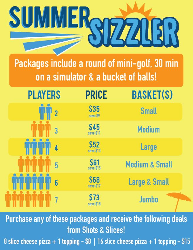 2018 Summer Sizzler Silver Tee Special Rates