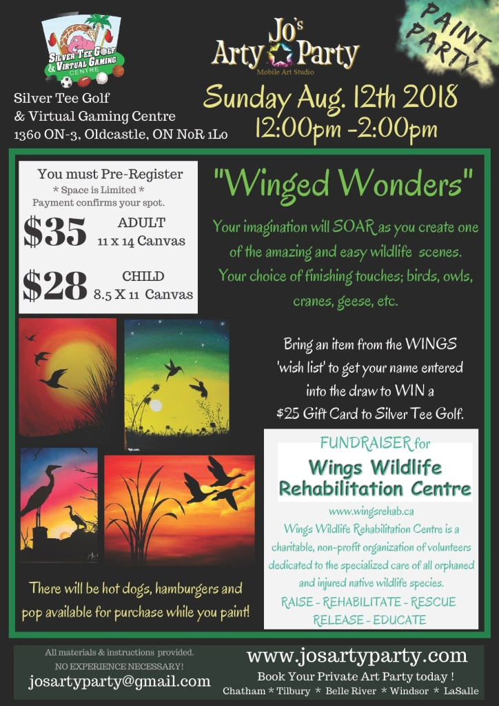 Wings WIldlife Fundraiser Windsor Essex