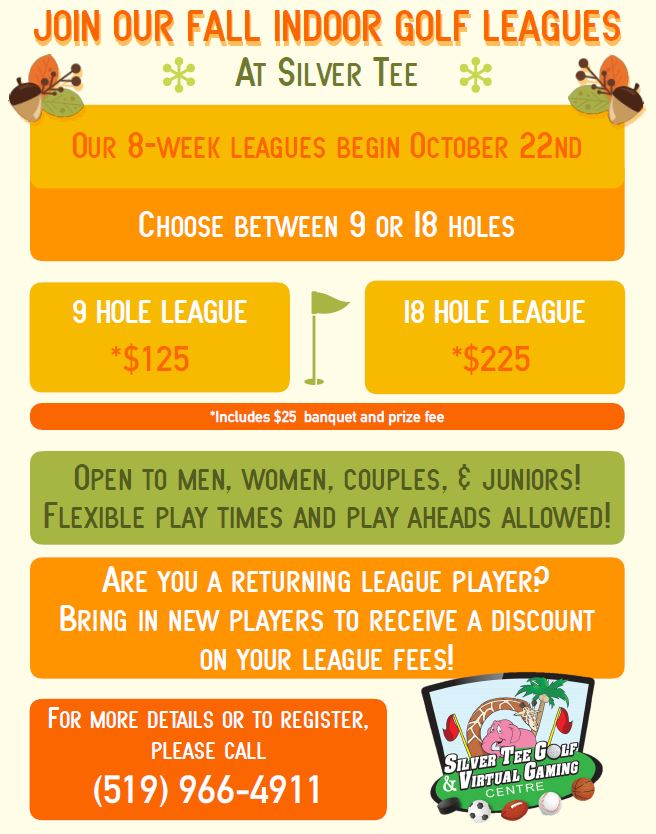 Indoor Fall Golf League Windsor Essex Silver Tee 2018
